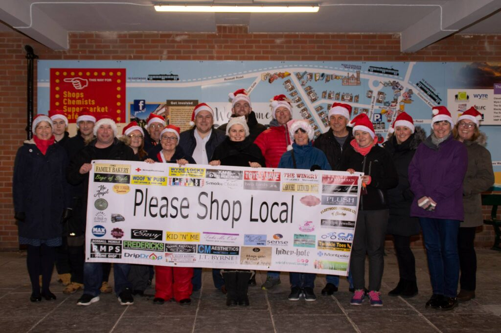 Shop local this Christmas. Christmas Lights in Cleveleys