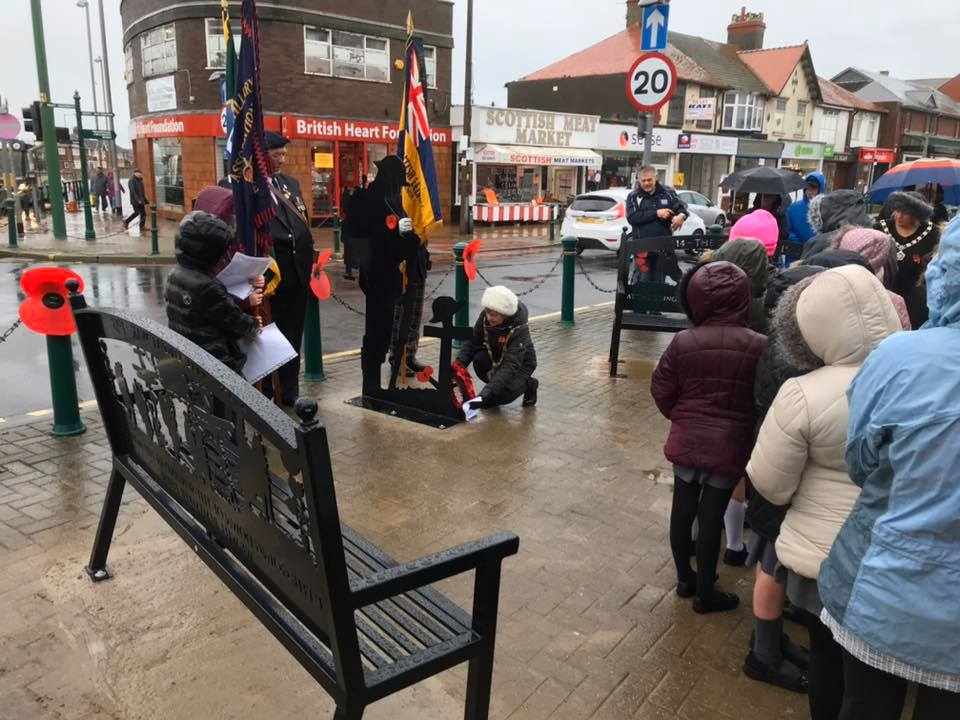 Remembrance service in Cleveleys, 2019