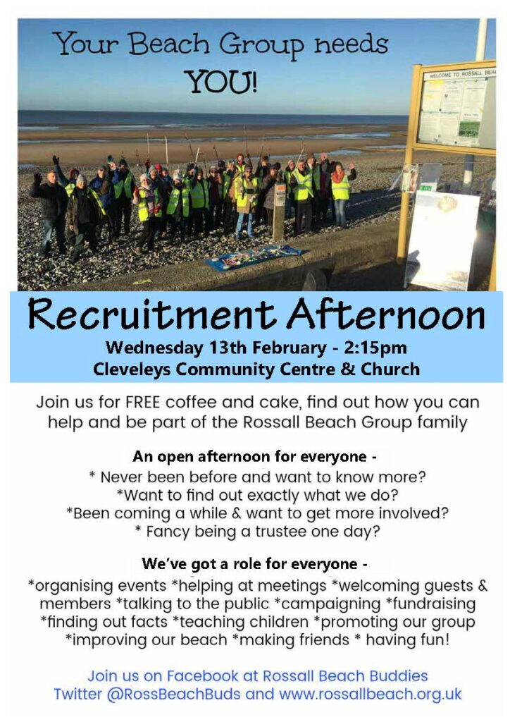Recruitment Event Rossall Beach Residents and Community Group