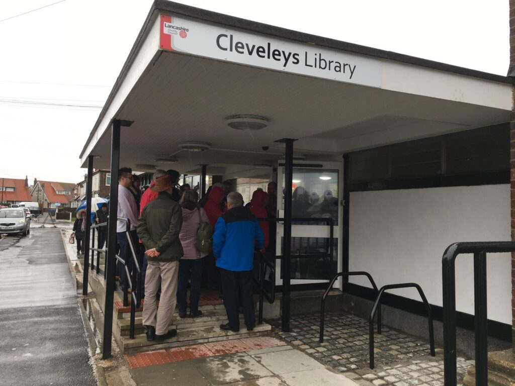 The official reopening of Cleveleys library