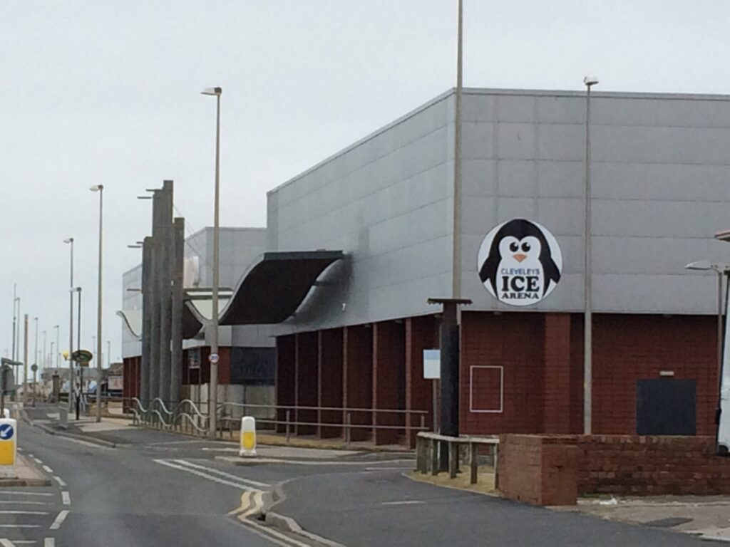 Cleveleys Ice Arena, more new signage in February 2015. Photo: Visit Cleveleys