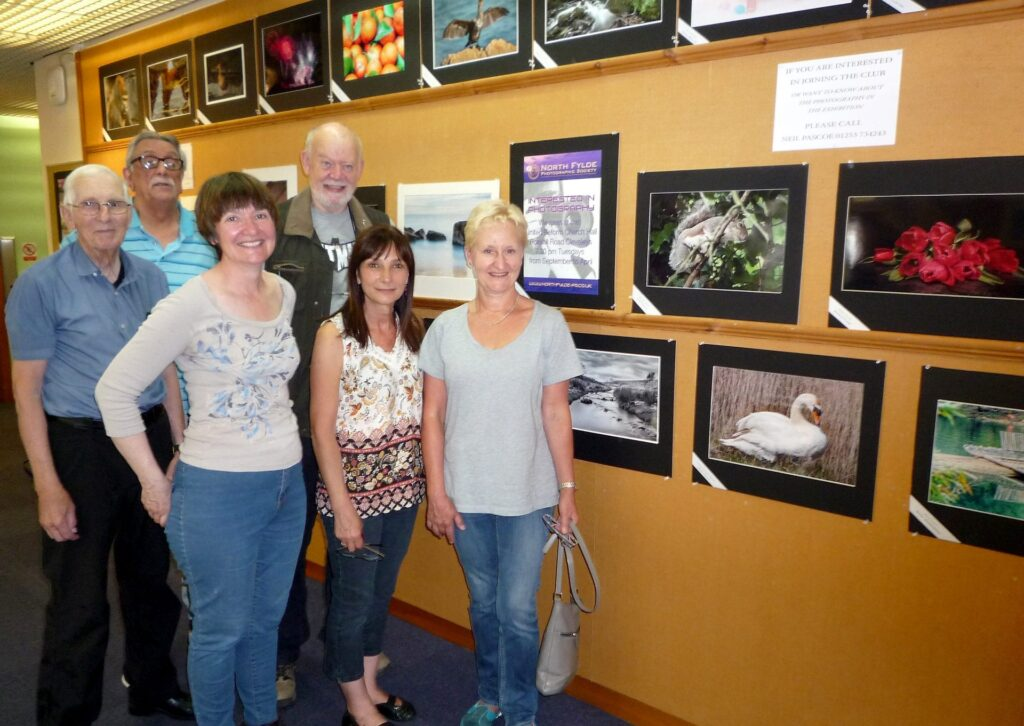 North Fylde Photographic Society members at their Fleetwood exhibition. Photo: © Wayne Paulo