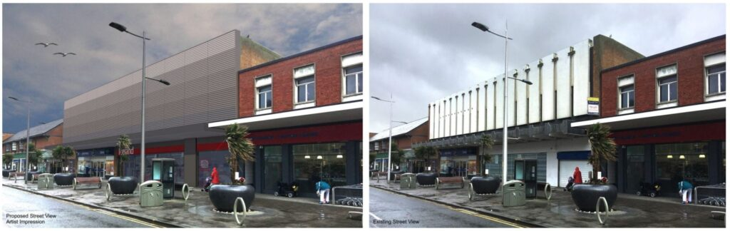 Before and after photos of the new Iceland store proposals for Cleveleys