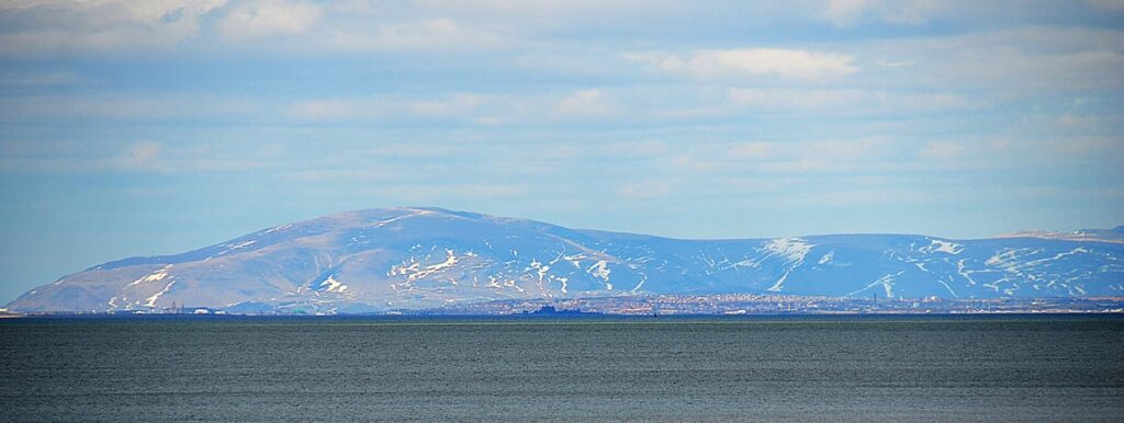 Barrow on the left and Piel Island clearly highlighted in the centre of the shot