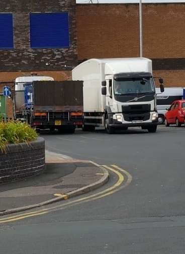 Workmen arrive at Tesco on Monday 8 July 2019