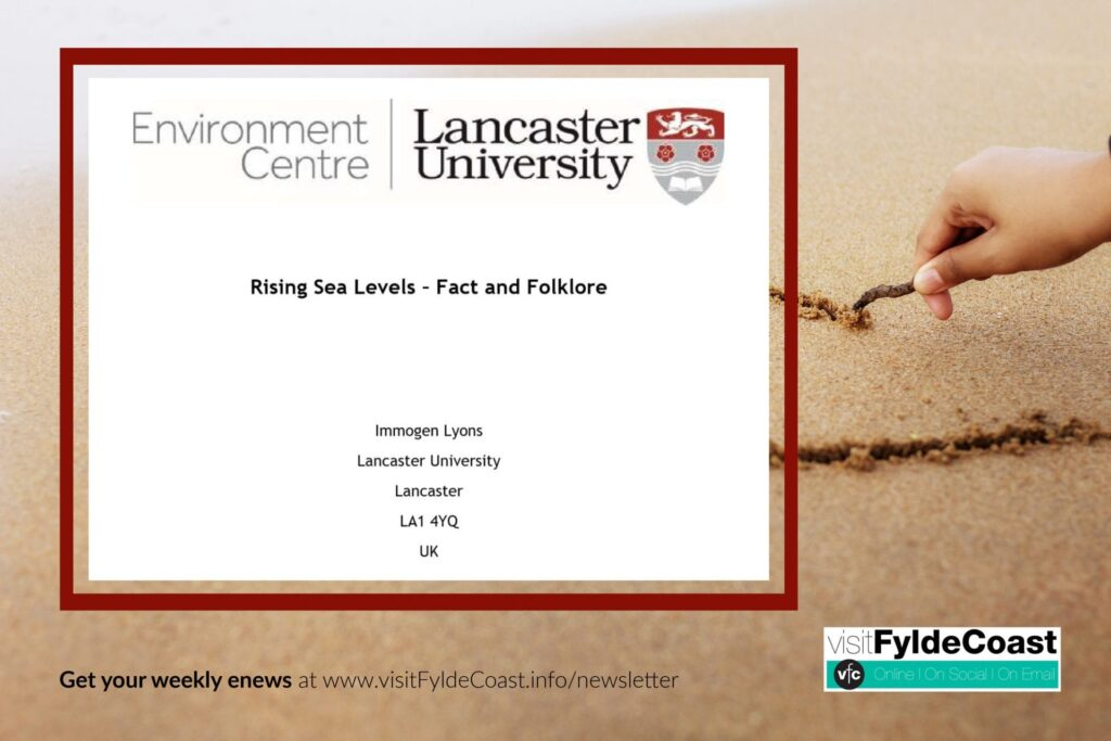 Rising Sea Levels - Fact or Fiction? A work by Immogen Lyons, 2019