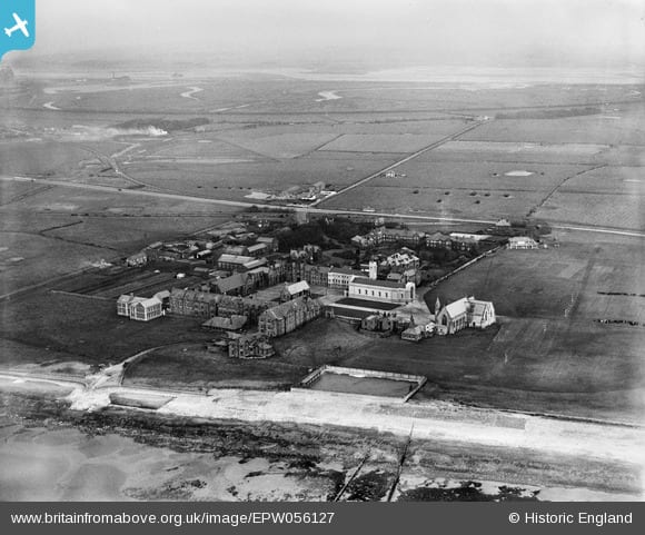 Rossall School in 1937. Copyright Britain from Above website
