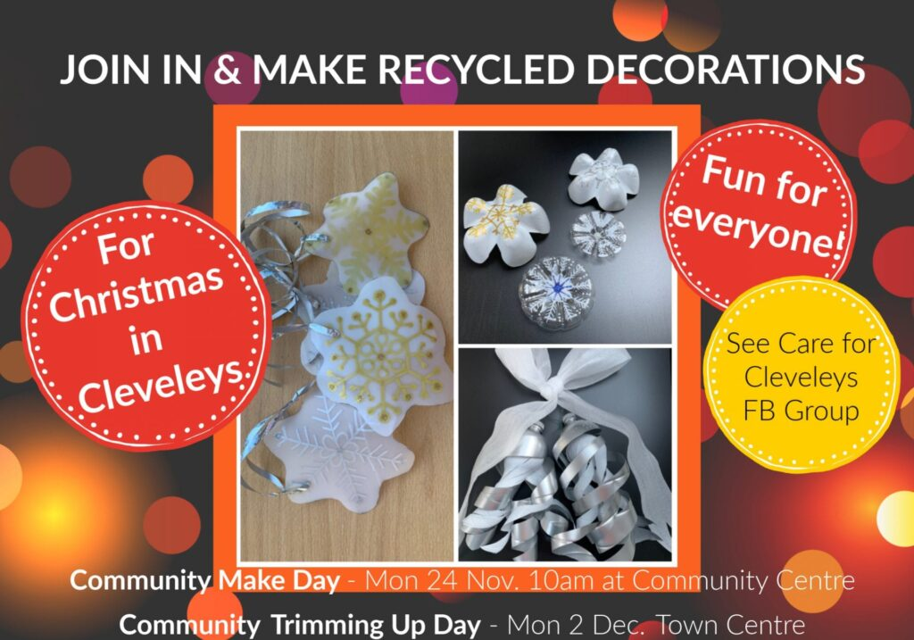 Make Christmas Decorations for Cleveleys