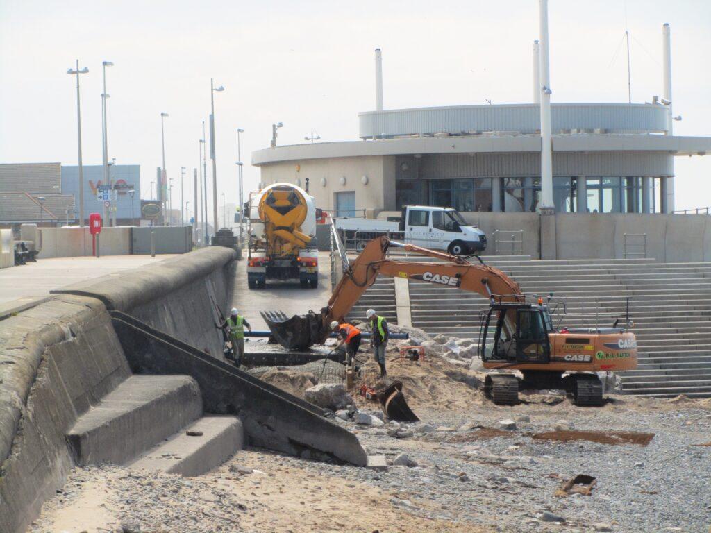 Extending the length of the beach access ramp