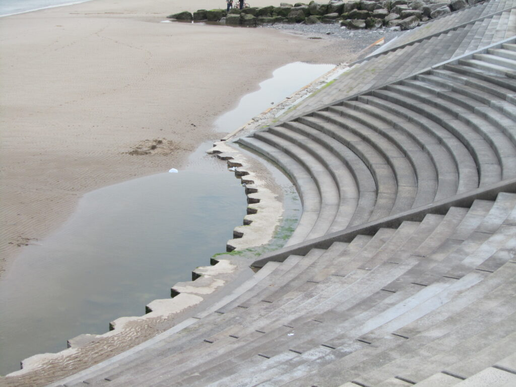 See the sheet piles exposed at the toe of the steps at Cleveleys. This photo June 2012