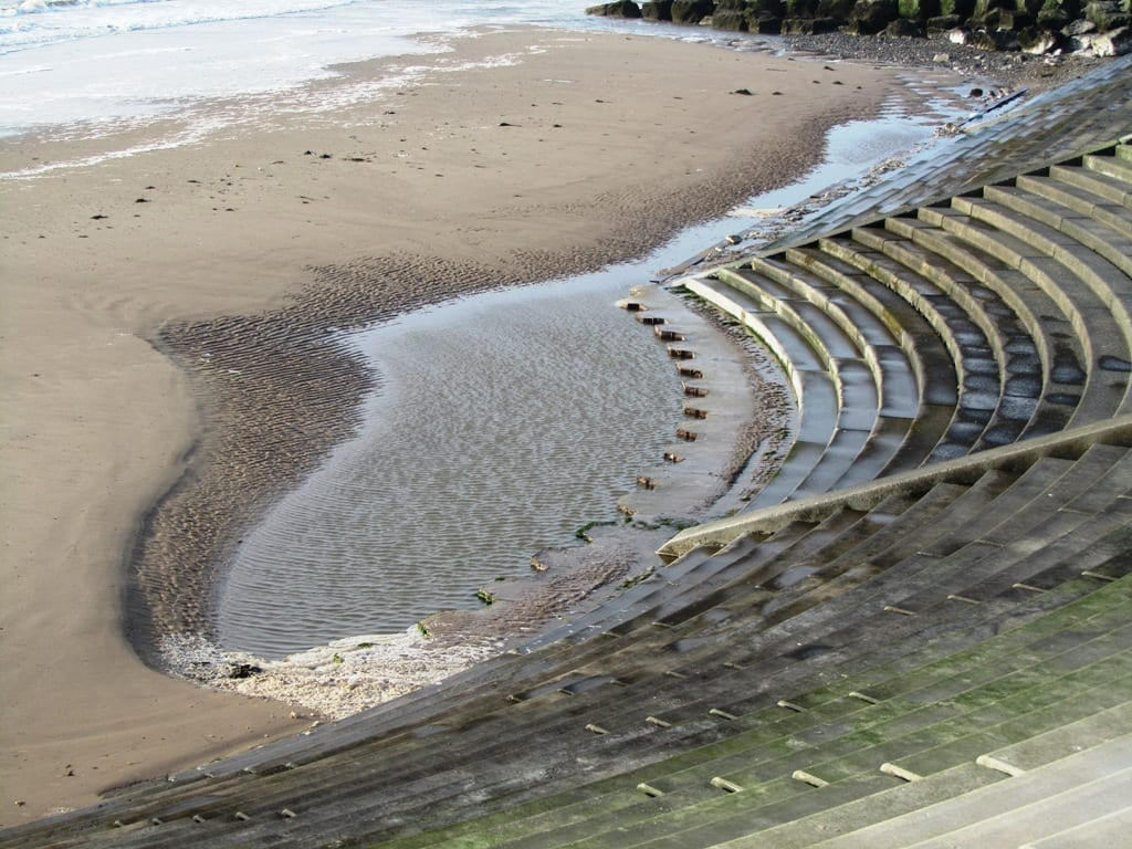 See the sheet piles exposed at the toe of the steps at Cleveleys. This photo March 2012