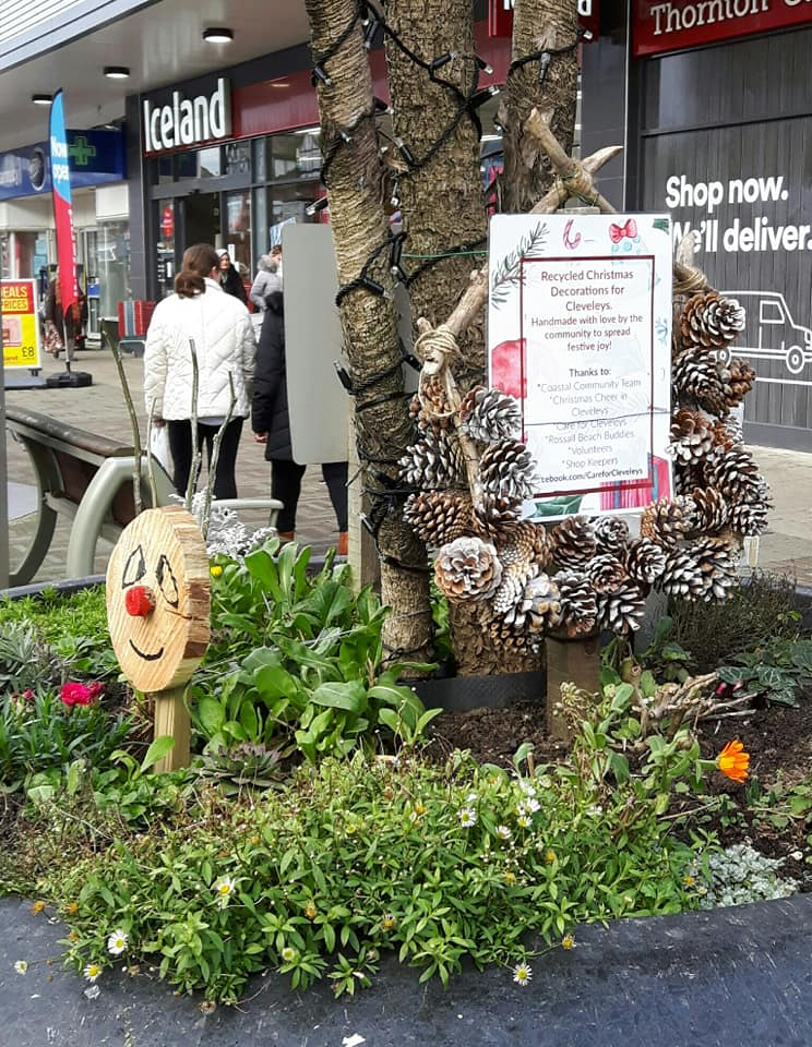 Reindeer have appeared in the grey planters